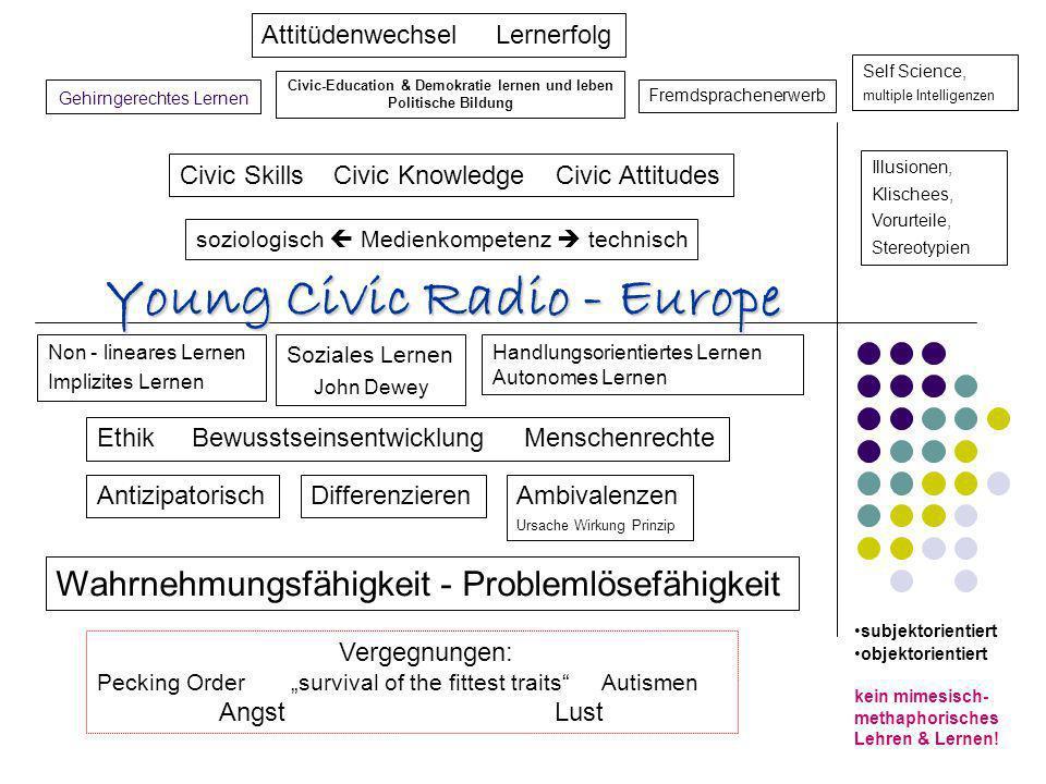 Gehirngerechtes Lernen Non - lineares Lernen Implizites Lernen Civic-Education & Demokratie lernen und leben Politische Bildung Fremdsprachenerwerb Il