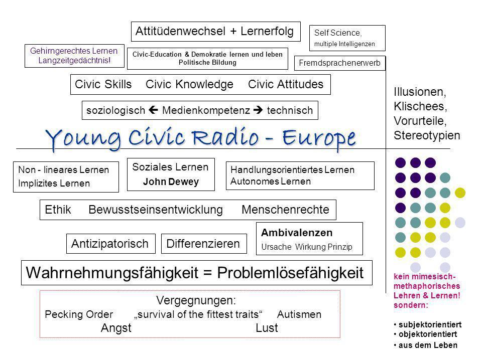 Gehirngerechtes Lernen Langzeitgedächtnis! Non - lineares Lernen Implizites Lernen Civic-Education & Demokratie lernen und leben Politische Bildung Fr