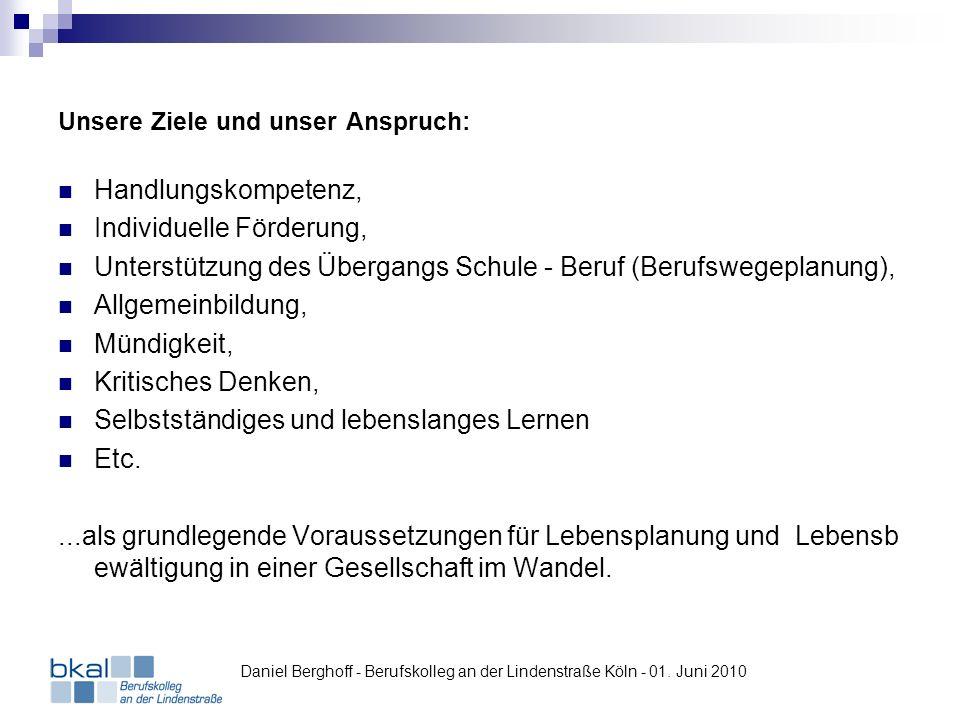 Einsatz von Mahara in der Kooperationsklasse SATURN / MediaMarkt im Einzelhandel Daniel Berghoff - Berufskolleg an der Lindenstraße Köln - 01.