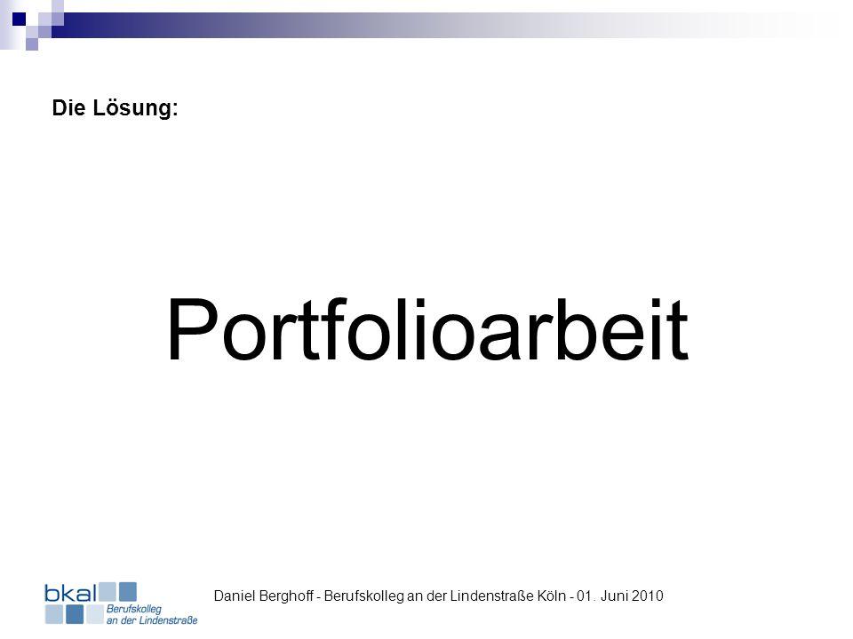 Was bedeutet Portfolioarbeit.