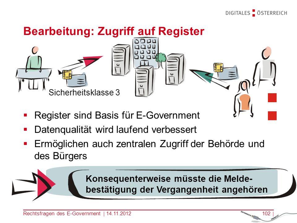 Rechtsfragen des E-Government | 14.11.2012101 | ELAK/ el.