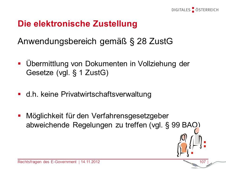 Rechtsfragen des E-Government | 14.11.2012106 | 3.