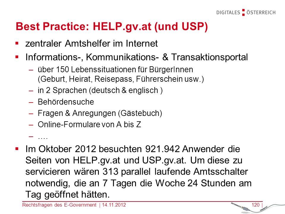 Rechtsfragen des E-Government | 14.11.2012119 | Ministerium erstellt leg.