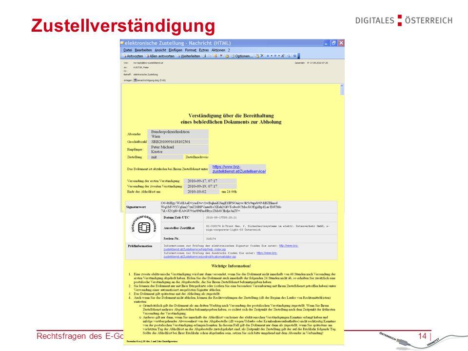 Rechtsfragen des E-Government | 14.11.201213 | Abschluss der Antragstellung