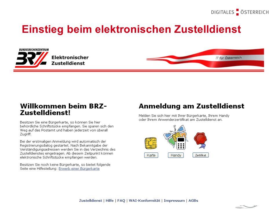 Rechtsfragen des E-Government | 14.11.201214 | Zustellverständigung