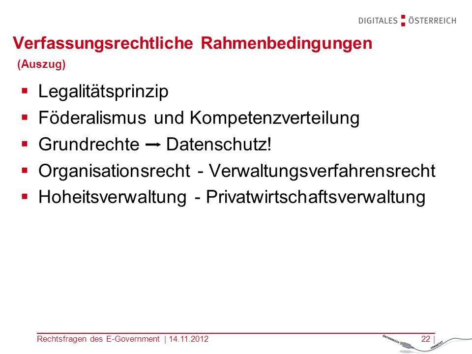 Rechtsfragen des E-Government | 14.11.201221 | Elektronische Zustellung Portal zB.