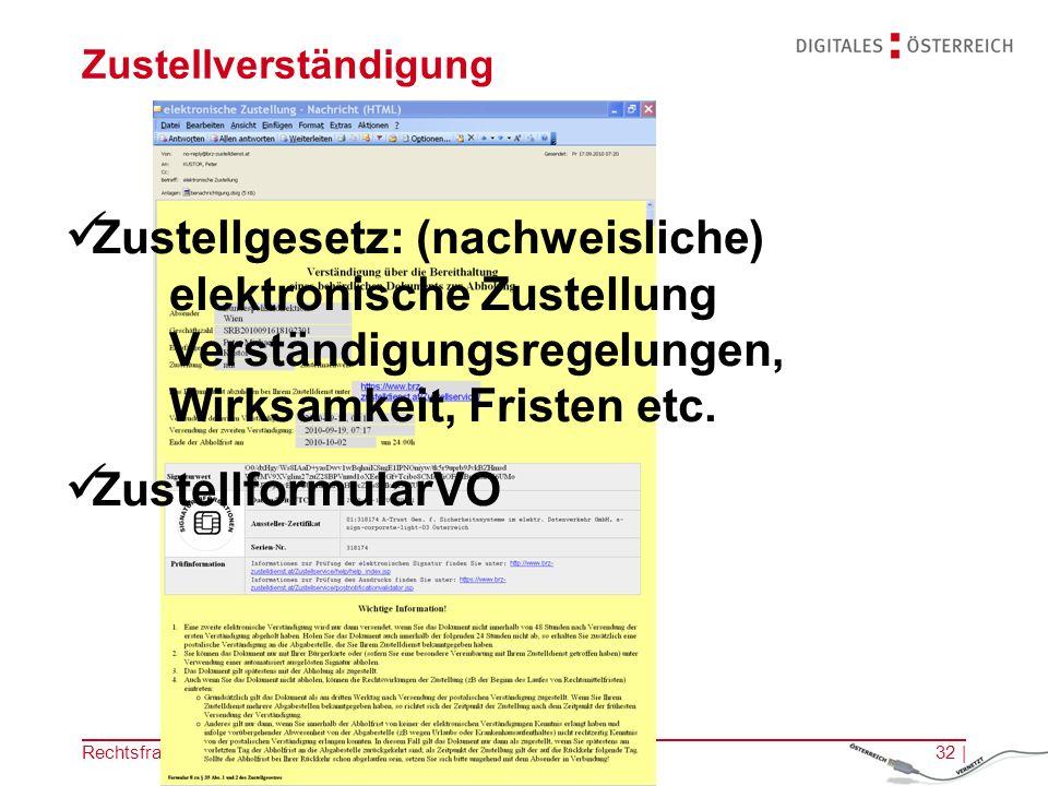 Rechtsfragen des E-Government | 14.11.201231 | Bezahlung der Gebühren Gebührengesetz Technische Konventionen (EPS2 etc.)