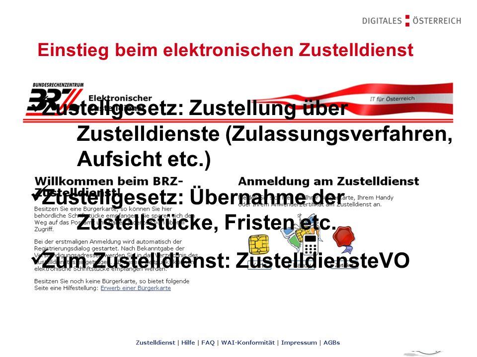 Rechtsfragen des E-Government | 14.11.201232 | Zustellverständigung Zustellgesetz: (nachweisliche) elektronische Zustellung Verständigungsregelungen, Wirksamkeit, Fristen etc.