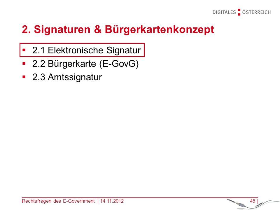 Rechtsfragen des E-Government | 14.11.201244 | E-Government Benchmarking 2010 100 % beim Indikator für Österreich, Malta und Irland Quelle: Capgemini