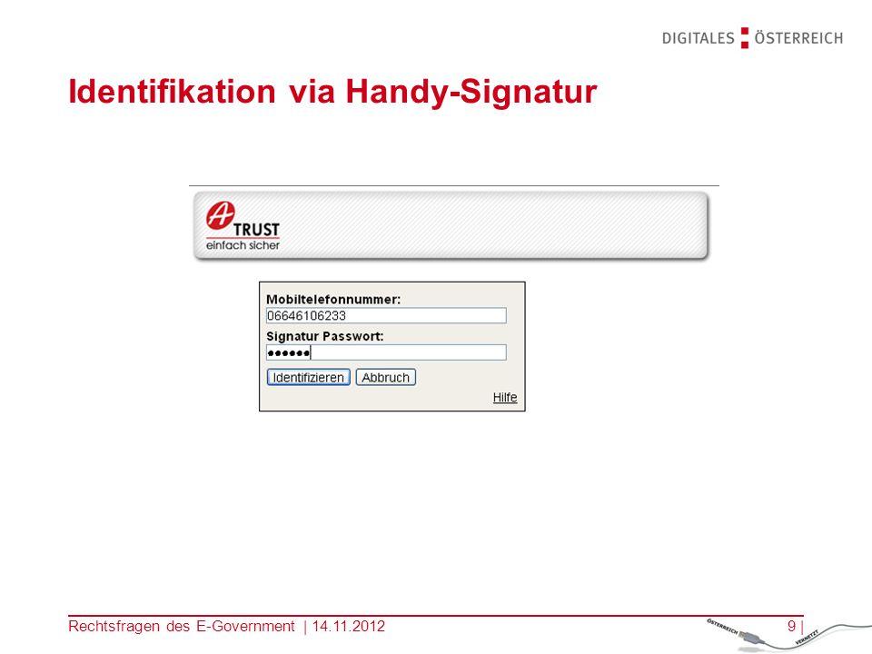 Rechtsfragen des E-Government | 14.11.20128 | Identifikationsvorgang