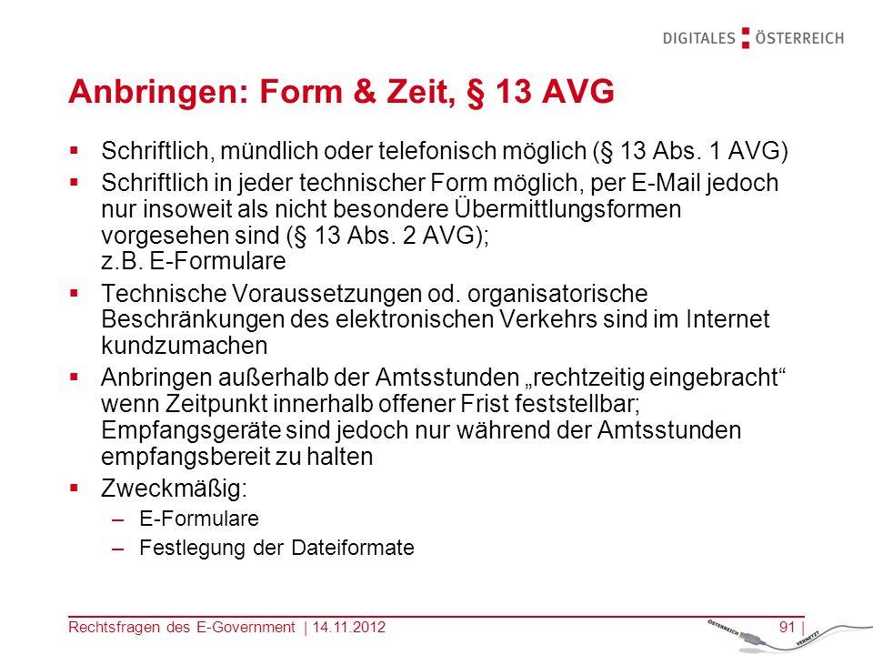 Rechtsfragen des E-Government | 14.11.201290 | Barreriefreiheit - § 1 Abs.
