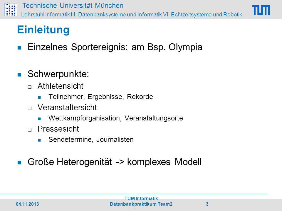 Technische Universität München Lehrstuhl Informatik III: Datenbanksysteme und Informatik VI: Echtzeitsysteme und Robotik 1.