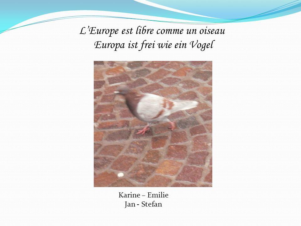 LEurope est libre comme un oiseau Europa ist frei wie ein Vogel Karine – Emilie Jan - Stefan