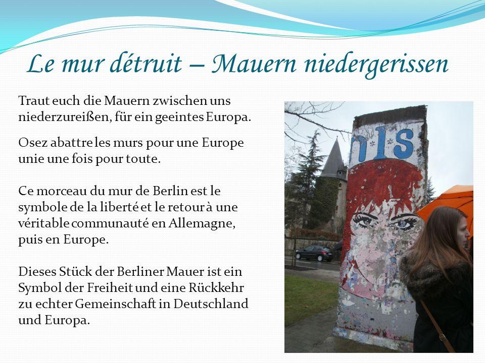 La sécurité en Europe Sicherheit in Europa La police est le symbole de la protection des droits des européens.