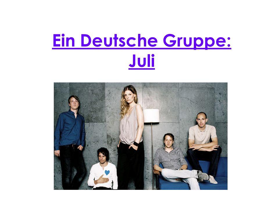 Präsentation Juli ist eine Pop-Rock Gruppe aus GieBen.
