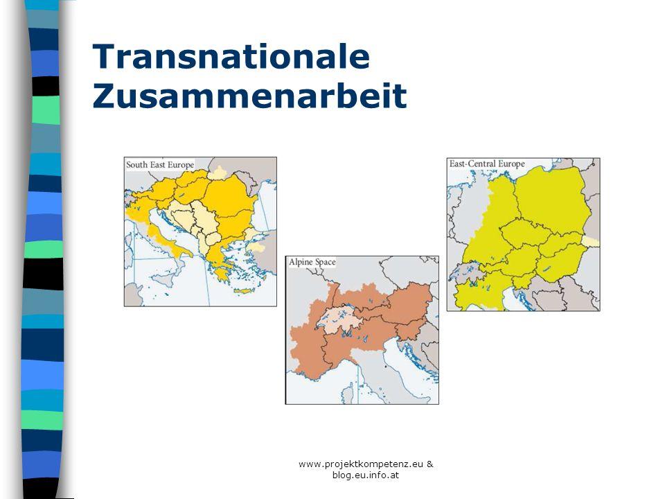 Transnationale Zusammenarbeit www.projektkompetenz.eu & blog.eu.info.at