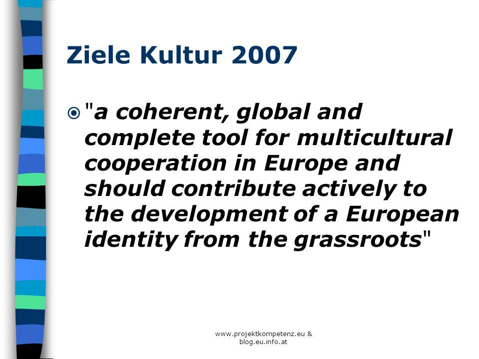 Ziele Kultur 2007