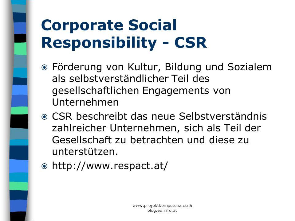 Corporate Social Responsibility - CSR Förderung von Kultur, Bildung und Sozialem als selbstverständlicher Teil des gesellschaftlichen Engagements von