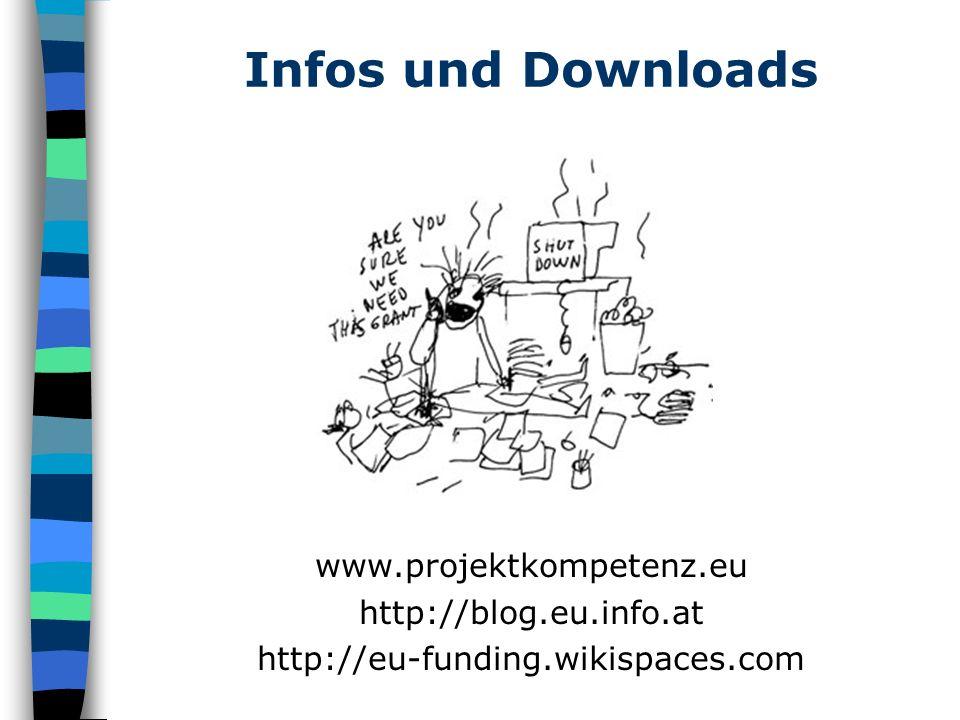 Infos und Downloads www.projektkompetenz.eu http://blog.eu.info.at http://eu-funding.wikispaces.com