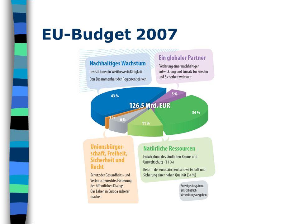 Budget 2007 im Detail www.projektkompetenz.eu & blog.eu.info.at