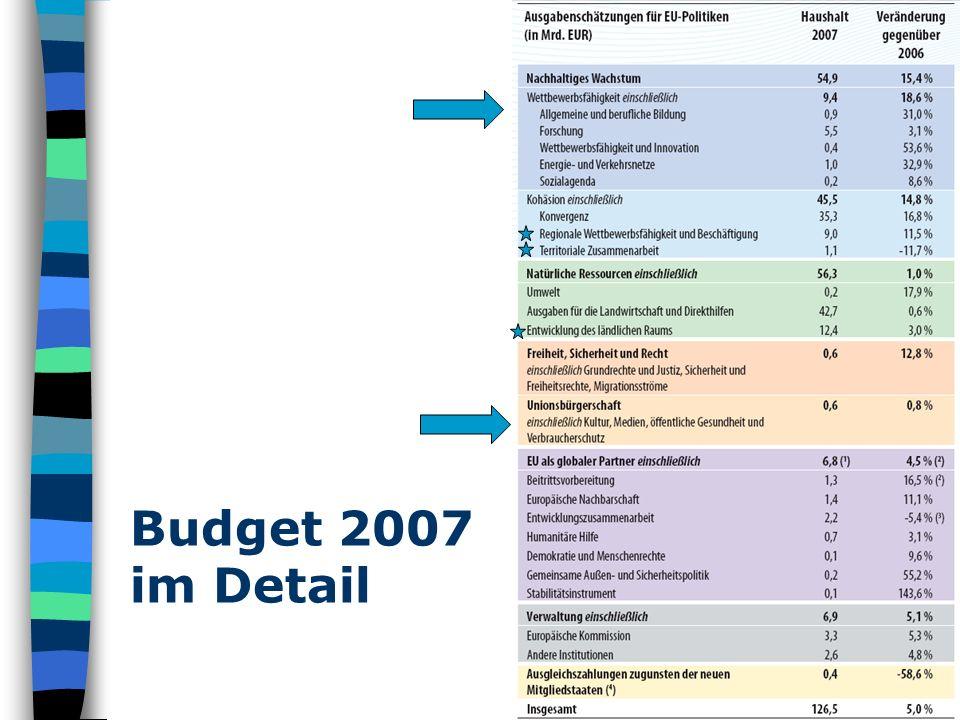 Ergebnis 2007 Während die Erfolgsquote im vorigen Kulturprogramm bei ca.