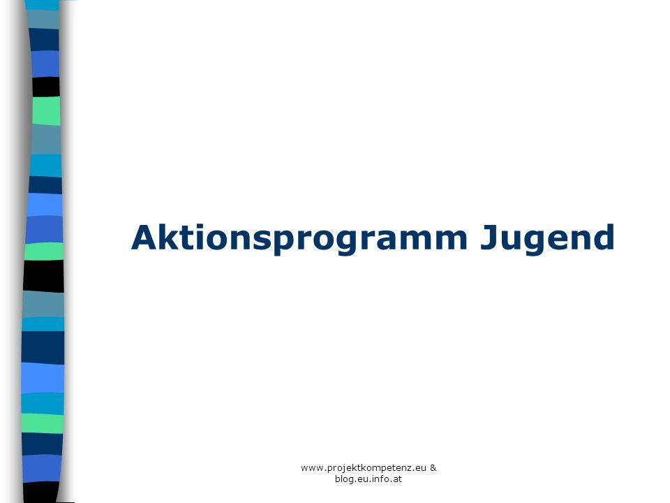 Aktionsprogramm Jugend www.projektkompetenz.eu & blog.eu.info.at