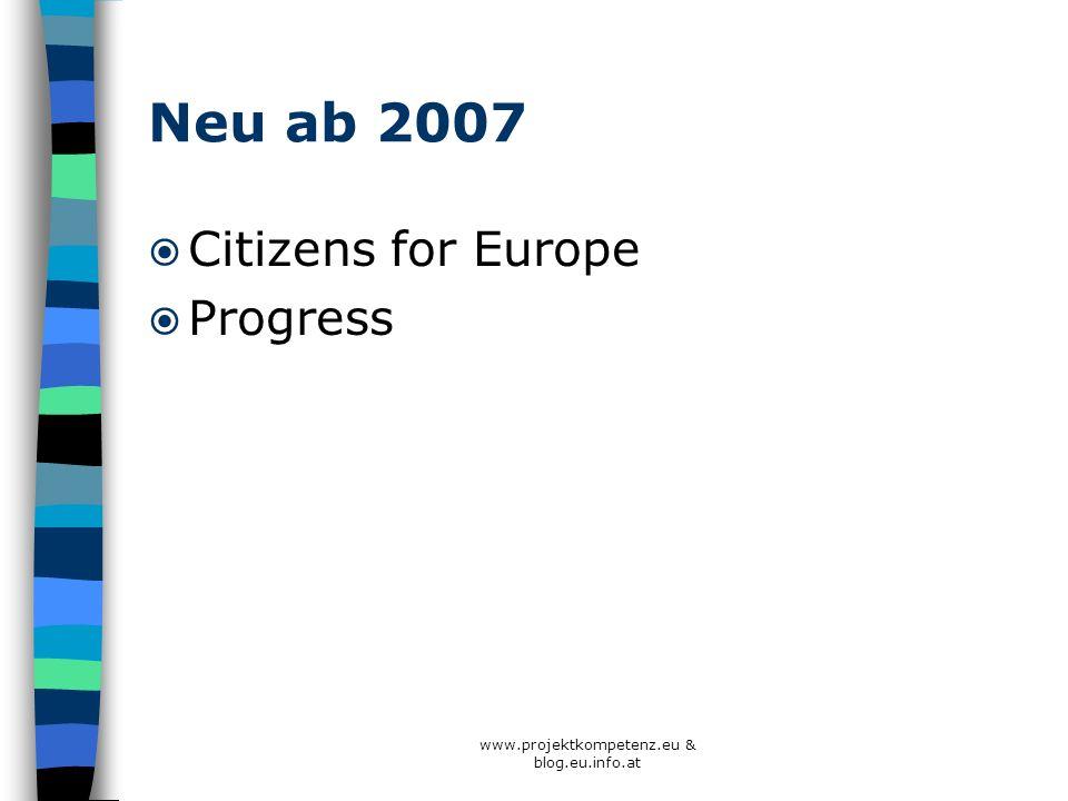 Neu ab 2007 Citizens for Europe Progress