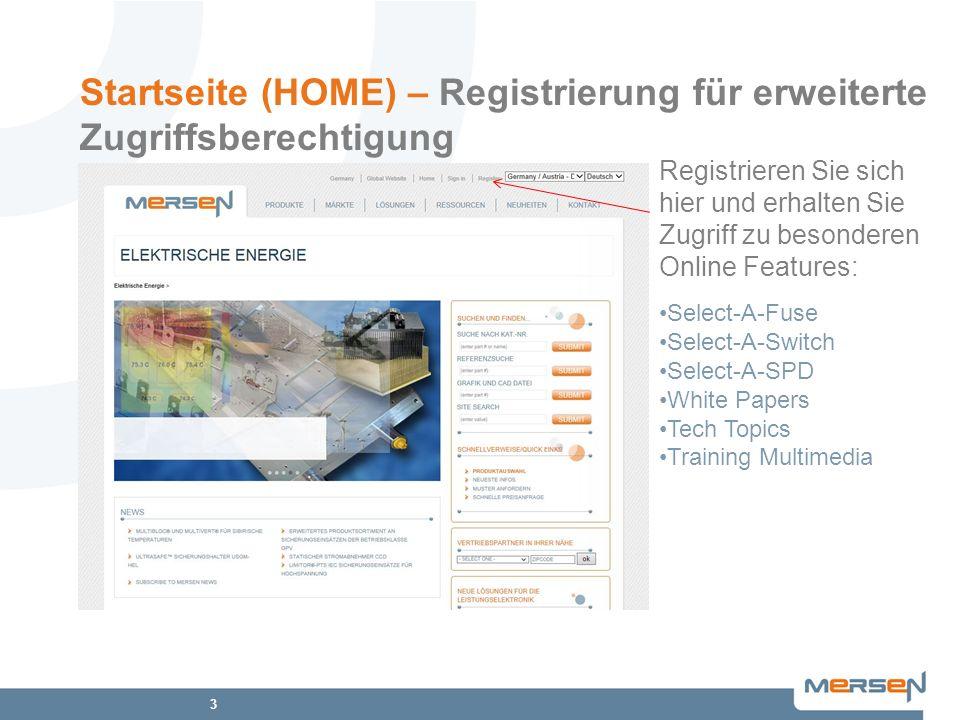3 Startseite (HOME) – Registrierung für erweiterte Zugriffsberechtigung Registrieren Sie sich hier und erhalten Sie Zugriff zu besonderen Online Featu