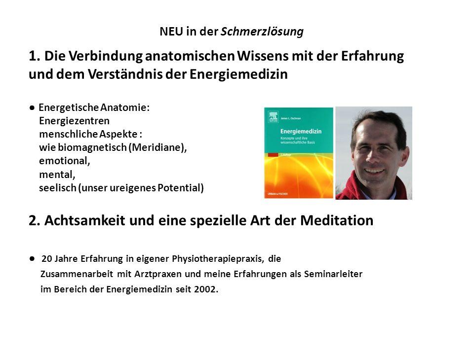 NEU in der Schmerzlösung 1. Die Verbindung anatomischen Wissens mit der Erfahrung und dem Verständnis der Energiemedizin Energetische Anatomie: Energi
