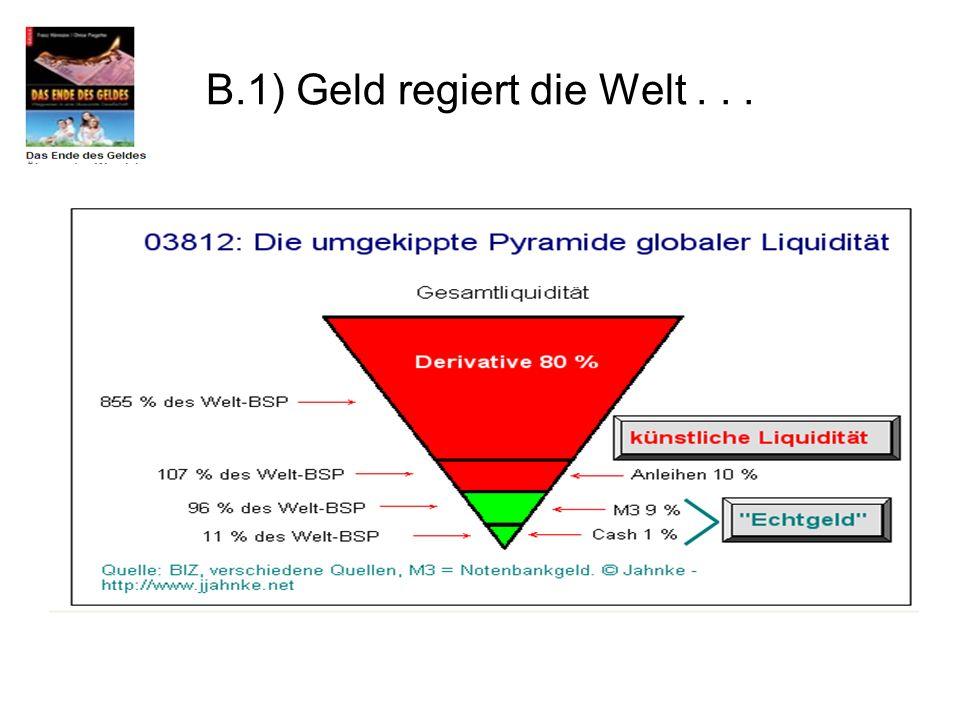 B.1) Geld regiert die Welt...