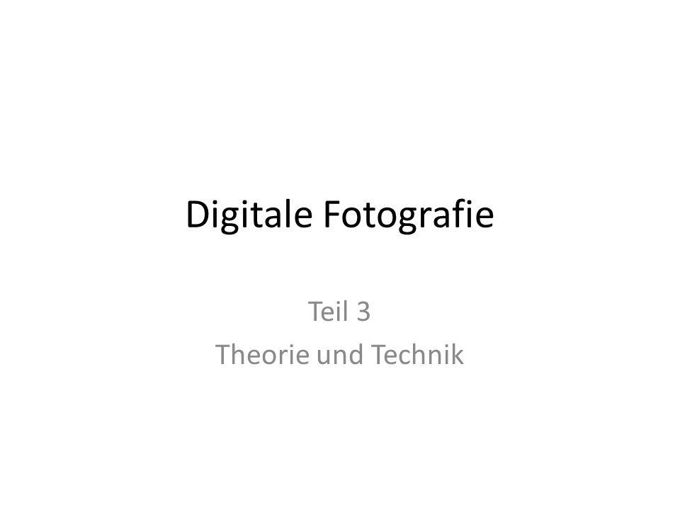Digitale Fotografie Teil 3 Theorie und Technik