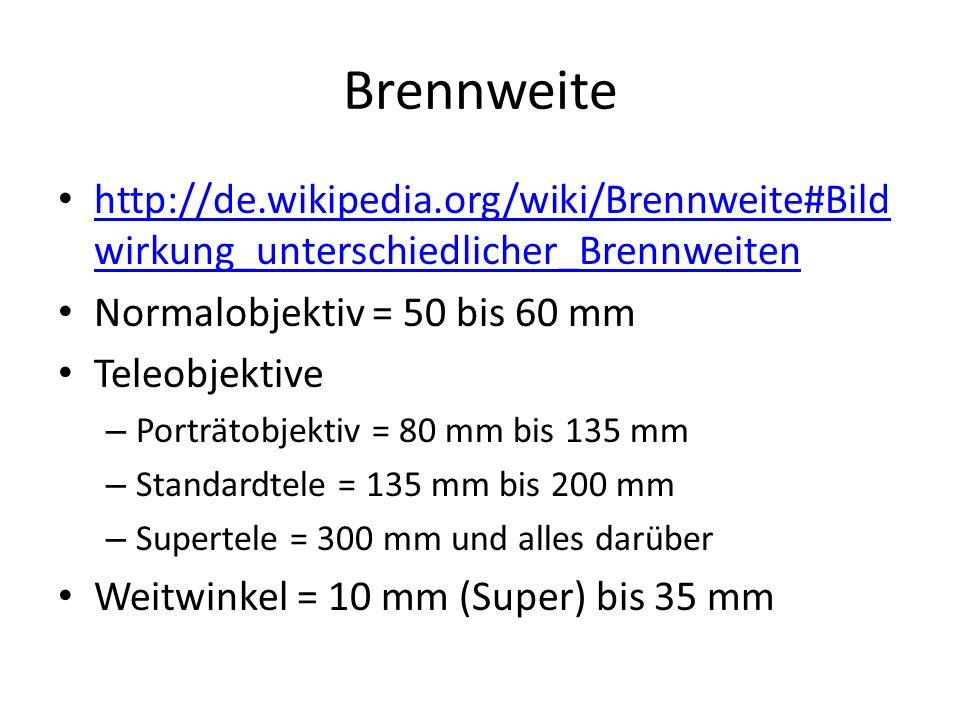 Brennweite http://de.wikipedia.org/wiki/Brennweite#Bild wirkung_unterschiedlicher_Brennweiten http://de.wikipedia.org/wiki/Brennweite#Bild wirkung_unt