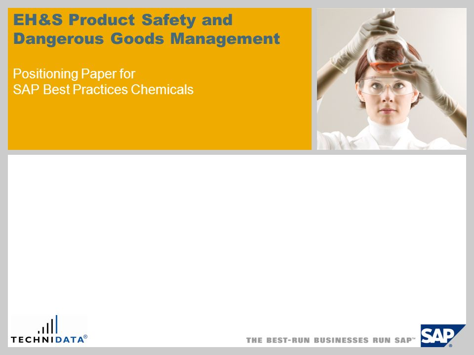 © SAP 2008 / Page 2 1.Introduction 2.Positioning 3.Decision finding 4.Business process comparison 4.1.Product Safety 4.2.Dangerous Goods 5.Regulatory content within SAP Best Practices for Chemicals Agenda sample for a picture in the divider slide