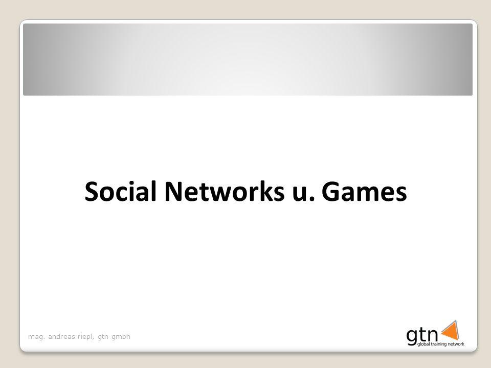 mag. andreas riepl, gtn gmbh Social Networks u. Games