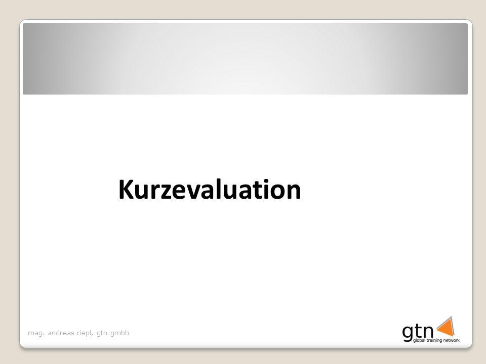 mag. andreas riepl, gtn gmbh Kurzevaluation