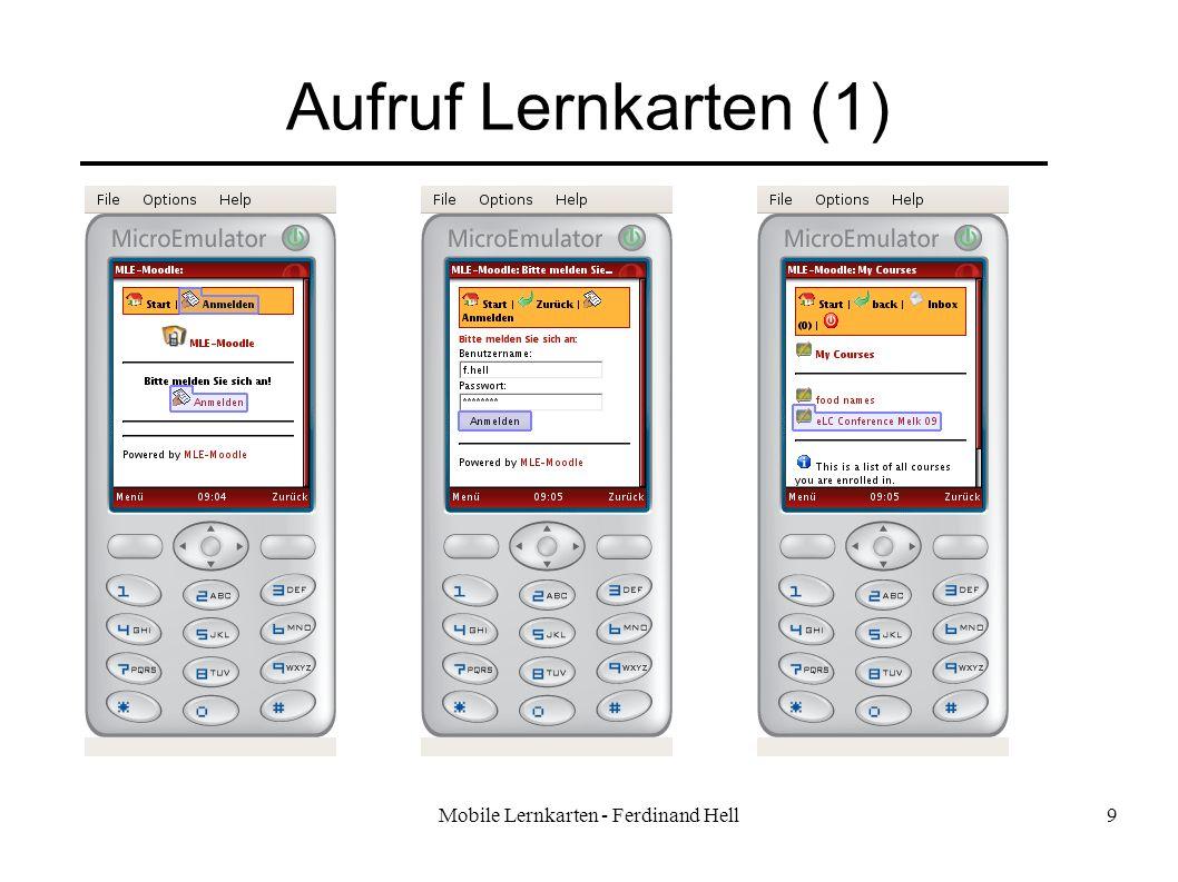 Mobile Lernkarten - Ferdinand Hell9 Aufruf Lernkarten (1)