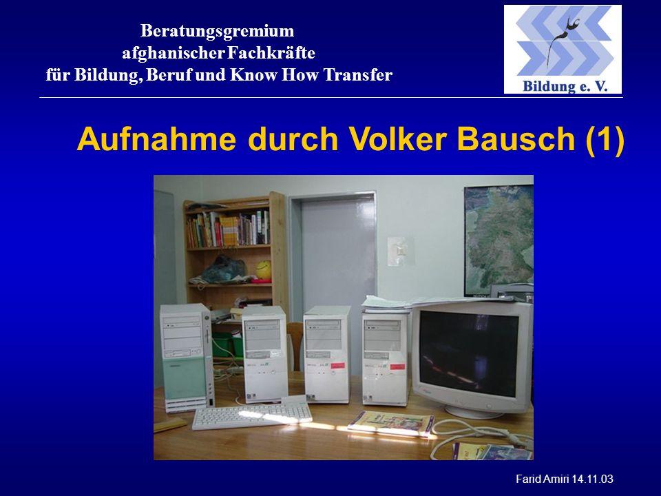 Beratungsgremium afghanischer Fachkräfte für Bildung, Beruf und Know How Transfer Farid Amiri 14.11.03 Aufnahme durch Volker Bausch (1)