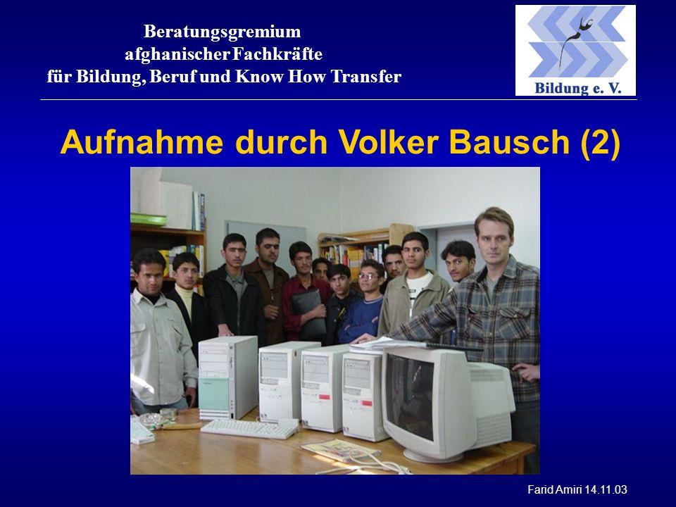 Beratungsgremium afghanischer Fachkräfte für Bildung, Beruf und Know How Transfer Farid Amiri 14.11.03 Aufnahme durch Volker Bausch (2)