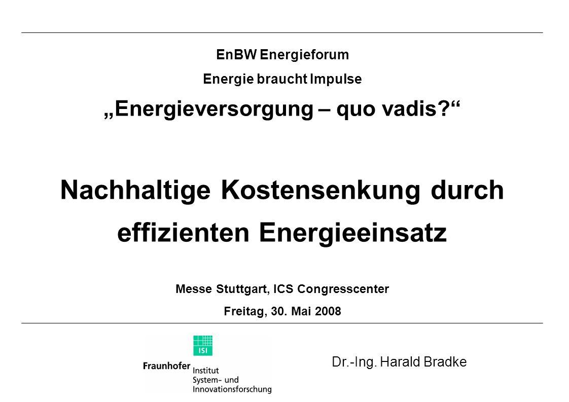 Energiekostenanteile Deutschland 2002 Verarbeitendes Gewerbe Durchschnitt 2005: 1,7 %