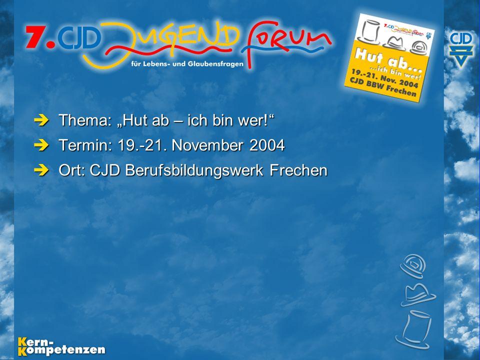 Musische Festtage 2003 - Folie 4 Thema: Hut ab – ich bin wer.