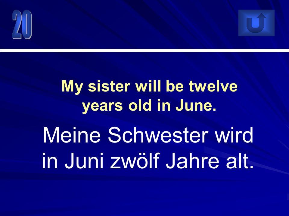 Ich werde nächste Woche nach Berlin fliegen. I will fly to Berlin next week.