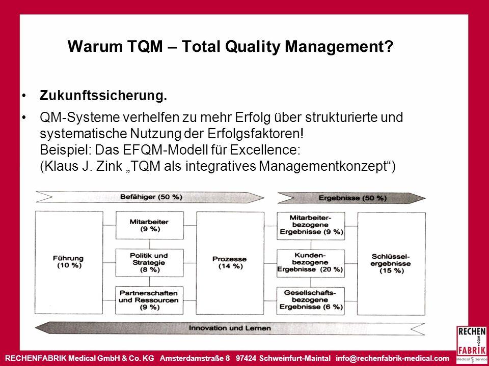 RECHENFABRIK Medical GmbH & Co. KG Amsterdamstraße 8 97424 Schweinfurt-Maintal info@rechenfabrik-medical.com Warum TQM – Total Quality Management? Zuk