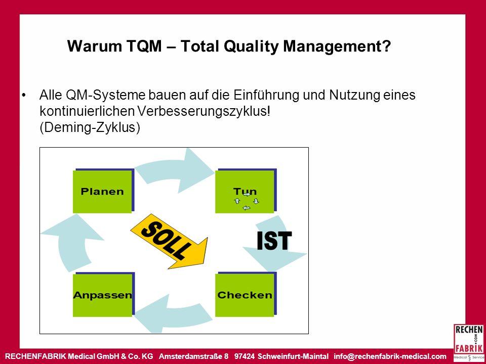 RECHENFABRIK Medical GmbH & Co. KG Amsterdamstraße 8 97424 Schweinfurt-Maintal info@rechenfabrik-medical.com Warum TQM – Total Quality Management? All