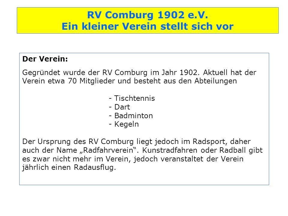 Der Verein: Gegründet wurde der RV Comburg im Jahr 1902.