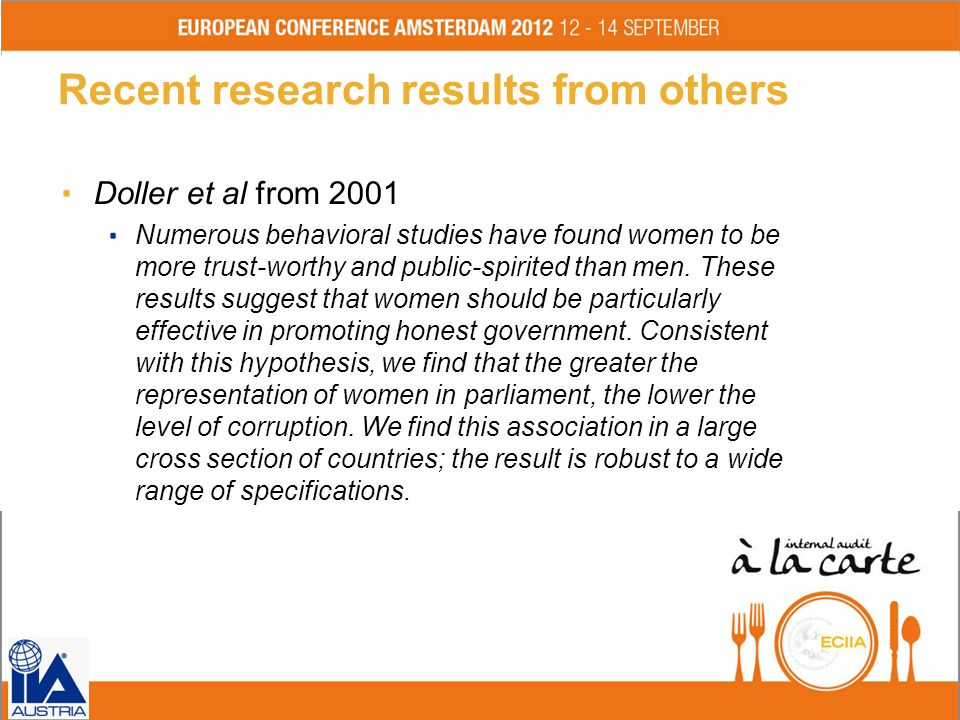 What did science find out in general on the role of women and men in corruption schemes.