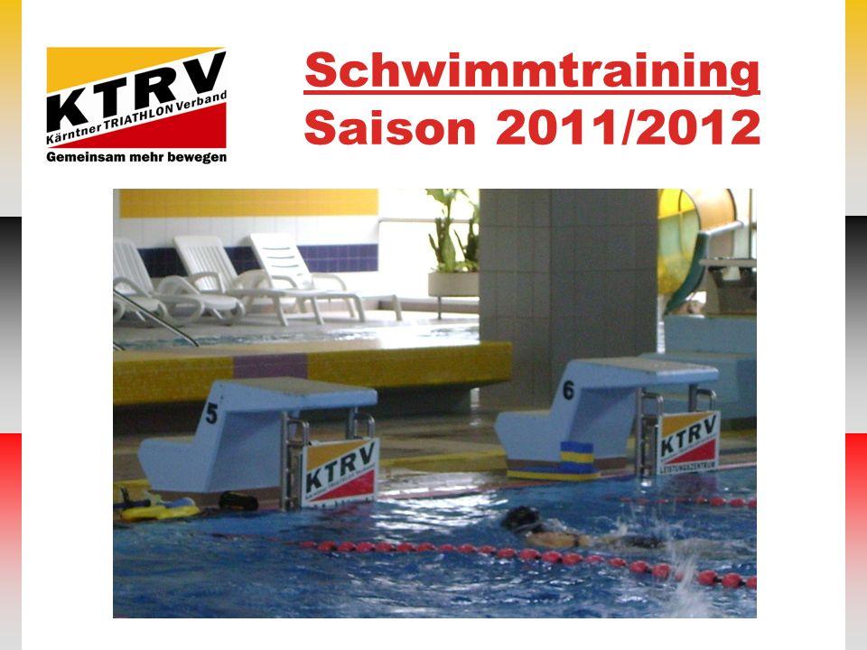 Schwimmtraining Saison 2011/2012