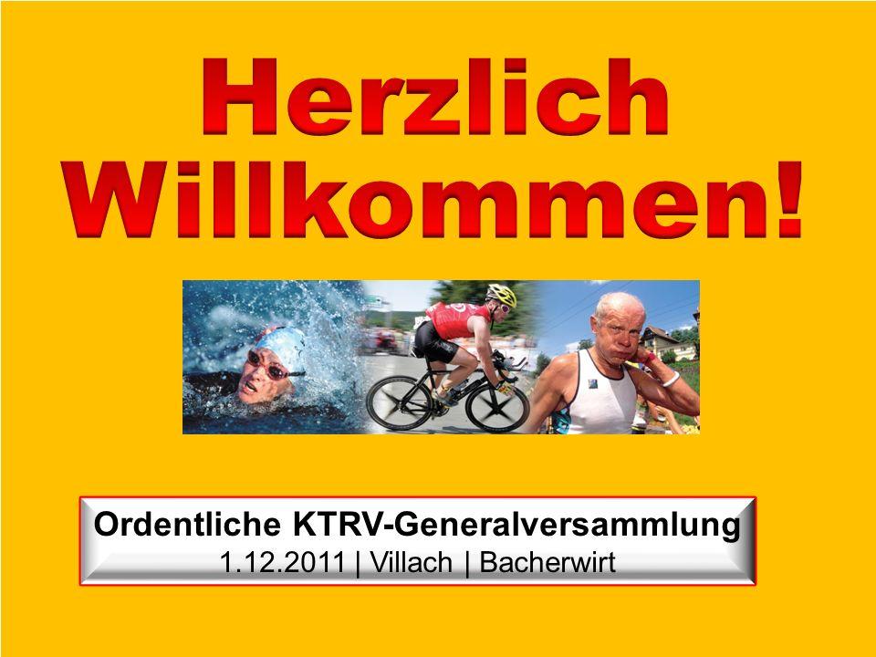 Ordentliche KTRV-Generalversammlung 1.12.2011 | Villach | Bacherwirt