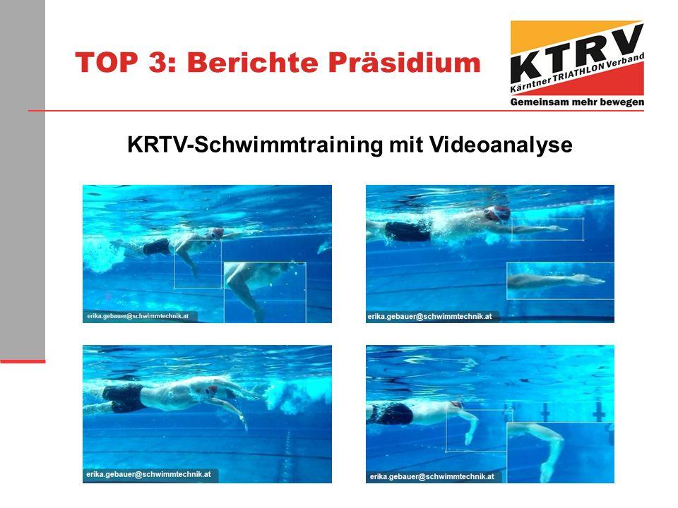 KRTV-Schwimmtraining mit Videoanalyse