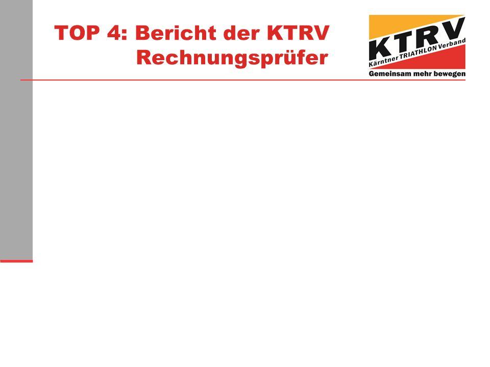 TOP 4: Bericht der KTRV Rechnungsprüfer