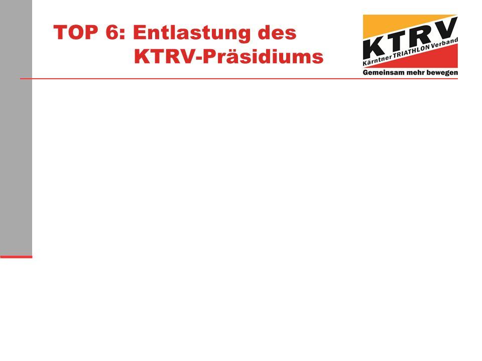 TOP 6: Entlastung des KTRV-Präsidiums